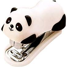 Unicoco 1 Pcs Grapadora Diseño de Oso Panda Tamaño Pequeño Mini Oficina Casa 6 x 2,5 cm