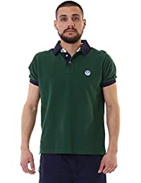North Sails Polo S/S W/Patch 0090, Verde, Medium