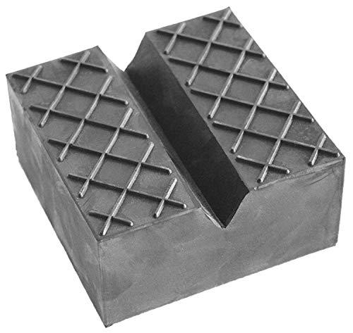100x100x50mm mit V-Nut, Waffel und Aussparung Gummiauflage für Wagenheber und Hebebühnen