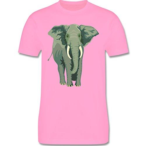 Wildnis - Elefant - Herren Premium T-Shirt Rosa