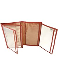 Pochette de protection, Etui Porte carte grise, assurance, permis en croute de cuir Rouge TU