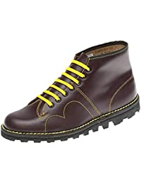 Grafters 60's Women's Leather Monkey Mod Boots In Wine Sizes 3-7