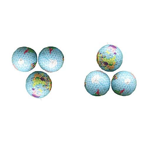 DHM-golf stuff Bequem Set Persönlichkeit Globus Druck Golfball Doppelschicht Kristall Transparent Schnee Stadion Golfball Für Männer Frauen Set Von 6 dauerhaft (Farbe : C1, Größe : Diameter 42.6mm)