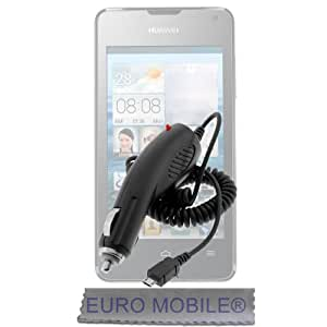 HUAWEI P8 LITE- Chargeur Voiture Allume Cigare Micro USB Noir.