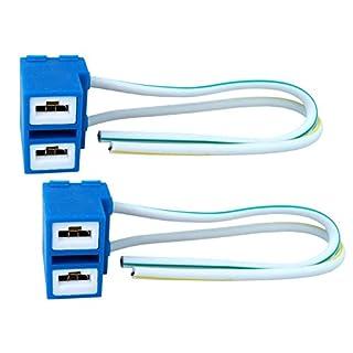 2x H7 Keramik Lampen Fassung Stecker Sockel 12/24V Halogen LED Kabel PX26d Auto