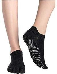 OUTANG Calcetines de Yoga de Secado rápido Antideslizante de Silicona Gym Pilates Calcetines de Ballet Fitness Sport Calcetines de algodón Transpirable Elasticidad