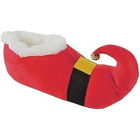 Unisex Adulto Regalo Navidad Pantuflas con cascabel ~ Santa o Elfo