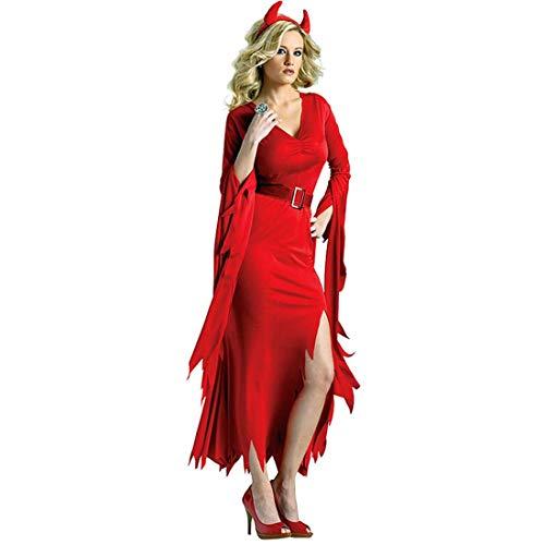 Kostüm Stretch Göttin - KLAWQ Damen Halloween Gothic Langes Kleid Vampir Hexe Kleider Cosplay Hexenkostüm Kostüm Schwarz Partykleid Temperament Göttin Königin Kleider Umhang Maxi Kleid-XL
