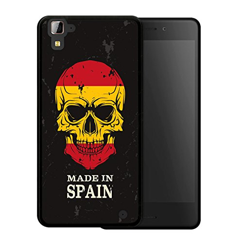 Hisense C30 Rock Hülle, WoowCase Handyhülle Silikon für [ Hisense C30 Rock ] Totenkopf Fahne Made in Spain Handytasche Handy Cover Case Schutzhülle Flexible TPU - Schwarz (Rock Fahne)