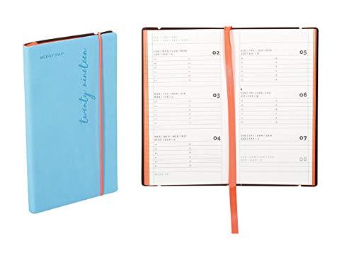 Agenda settimanale 2020 Flexy-Diary, 8 X 14,8 Cm colore light blue