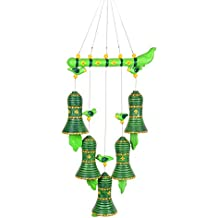 ExclusiveLane Terracotta Handpainted Decorative Bell Hanging - Door Hanging Wind Chimes Home Decoration Item