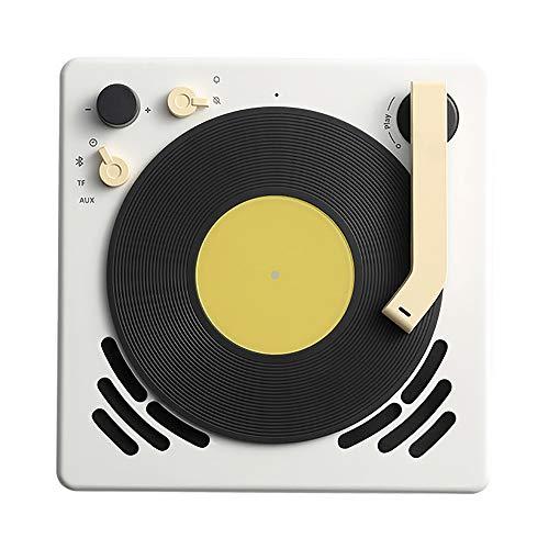Grammophon Retro Design Lautsprecher Bluetooth Plattenspieler Wecker Sleep Timer Plattenspieler Suspenable - Alarm Schalten Des