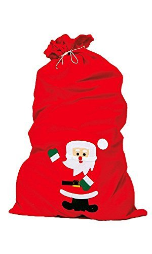Weihnachtsmannsack 858.0196 Nikolaussack rot ca.90x60cm a.Filz (Die Joker Kostüme Für Erwachsene)