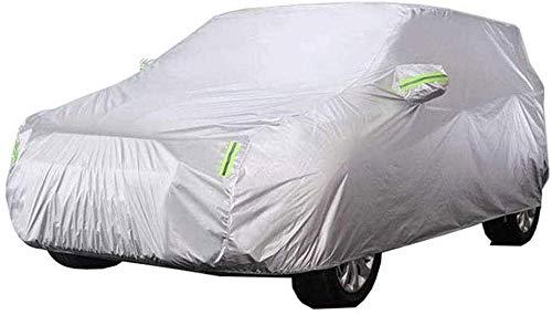 ZGYQGOO Atmungsaktive Autoabdeckung - Wasserdicht Im Freien Winddicht Staubdicht UV-Schutz Vollständige Autoabdeckung Passend für Qashqai Nissan SUV (Farbe: 2017)