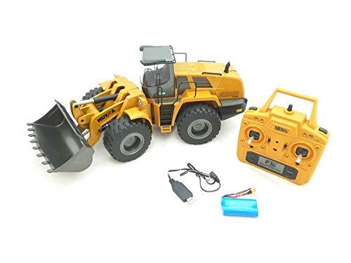 RC Auto kaufen Baufahrzeug Bild: FM- Electrics FM1583| Die Cast Metall-Radlader mit Sound 1:14 mit 10 Kanal Sender Huina 583*