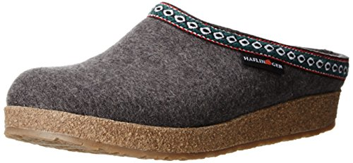 Haflinger Grizzly Franzl 711001, Damen Pantoffeln, Grau (anthrazit 4), EU 42