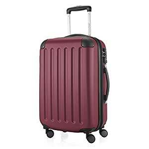 HAUPTSTADTKOFFER - Spree - Bagages Cabine à Main, Valise Rigide, Trolley, ABS, TSA, extra léger, extensible, 4 roues, 55 cm, 42 L, Bourgogne