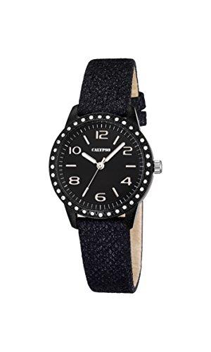 Welder K5652-4, orologio al quarzo da uomo, quadrante nero, display analogico e cinturino in pelle nero