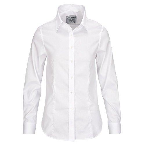 ALLBOW Neat Weiße Bluse mit Ellenbogen-Patches, Elegante Damen-Bluse mit Flicken Beige