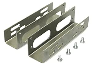 Einbauwinkel Festplatte HDD 8,9cm (3,5 Zoll) auf 13,3cm (5,25 Zoll) Winkel