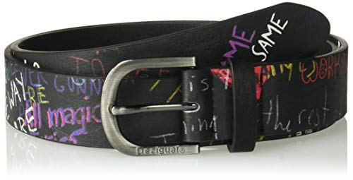 Desigual Damen Gürtel CINT_Graffiti Wall, Schwarz (Negro 2000), 95|#6651