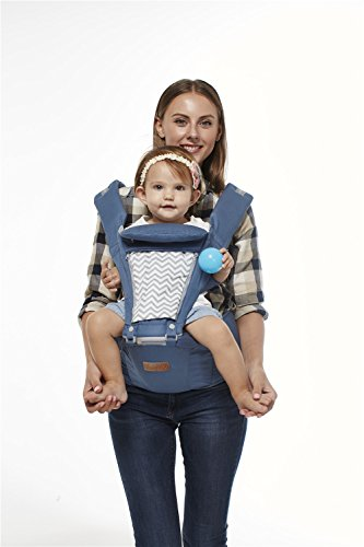 Boyovo Baby-Trage, mit Tragesitz, Rucksack-Design, 6in 1, für alle Jahreszeiten (Babys Rucksack)
