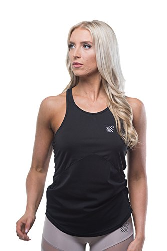 Jed North Women's Workout 2-tone Mesh Tank Top Gym Racerback Stringer