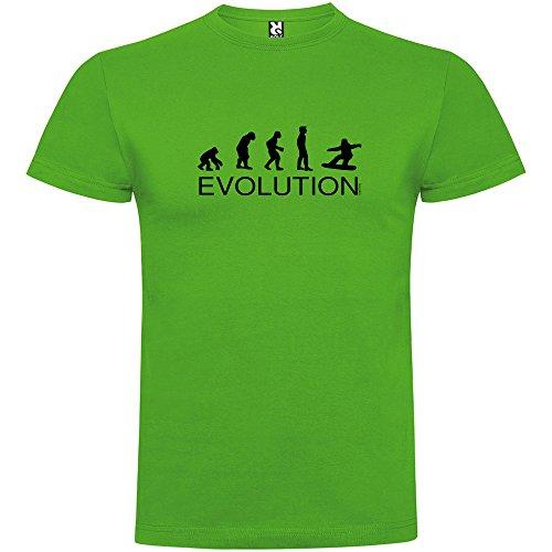 kruskis Camiseta Esqui Evolution Snowboard Manga Corta Hombre Verde Grass XL