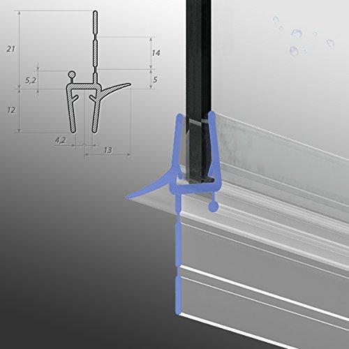 80cm M24 -- Ersatzdichtung für 5mm/6mm/ 7mm/ 8mm Glasdicke Wasserabweiser Duschdichtung Schwallschutz Duschkabine