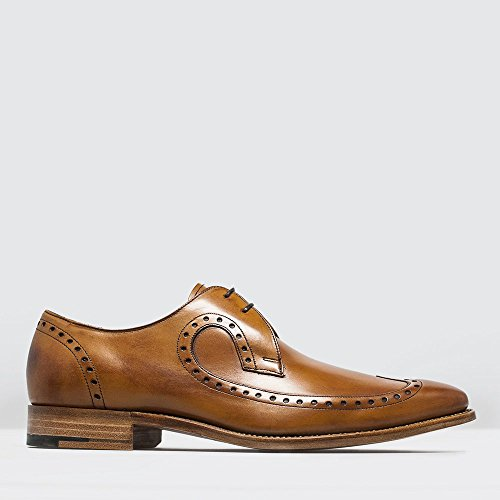 Barker Mens Woody Leather Shoes Cedar Calf