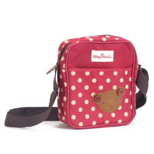 Damara Punkt Bär Klein Handtasche Umhängetasche,Pink Rot