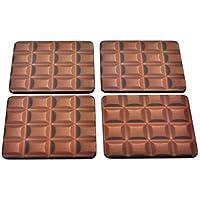 Chocolate Chunk Set of 4 Coasters by Half Moon Bay