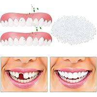 2 Dentaduras Carillas Instantáneas, Kit de Reparación Diente Multifuncional de 50 g Perlas de Ajuste Térmico Plástico para Relleno de Prótesis Dientes Faltas con Cubierta a Presión Superior Cosmético