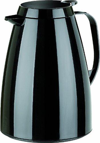 Emsa 505361 Isolierkanne, 1 Liter, Quick Tip Verschluss, 100% dicht, Schwarz, Basic