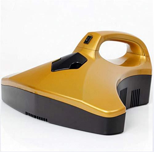 Jiahe UV-leistungsstarker Staubsauger/UV-Licht Bett- und Sofasauger mit Vibrationsplatte, Ideal für Polsterungen, Matratzen, Kissen, Vorhänge, 5 m Kabel,Gold