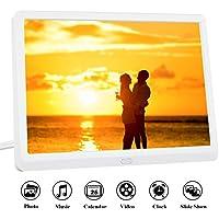 Cornice Digitale 10 Pollici Full HD Schermo LED IPS AD Alta Risoluzione 1920 * 1080 Telecomando Anteprima e Auto-Rotazione Portafoto Digitale MELCAM per Foto/Musica/Video – Bianco