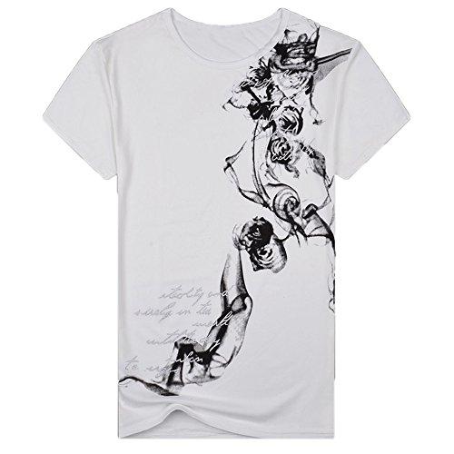 DEELIN T-Shirts, 2019 Frühling Sommer Herren T-Shirt Hipster Original Spirit Dunkle Rose Slim Fit Baumwolle Top Bluse ()