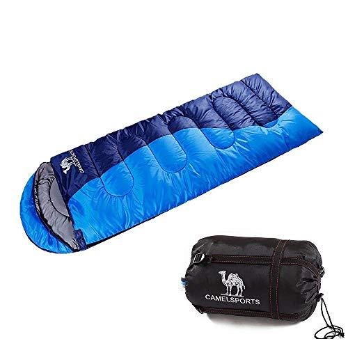 CAMEL CROWN Schlafsack Wasserfest Winddicht Warm Deckenschlafsack Doppelschlafsack 3 Seasons 1.35 KG 1.6 KG 1.8KGFür Personen Outdoor-Aktivitäten Camping Wandern