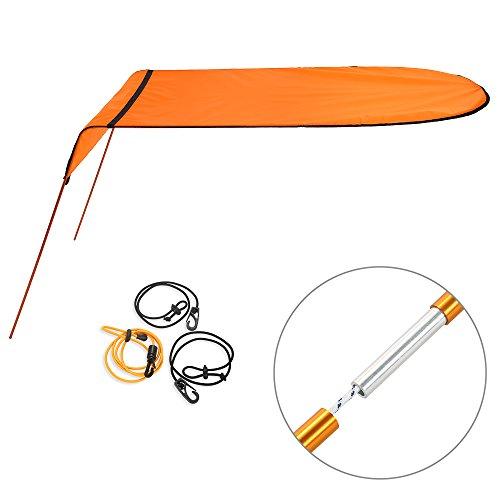 Esta sombrilla de kayak está hecha de tela oxford resistente al agua. Puede proporcionar un refugio y te protege de las quemaduras solares mientras estás en kayak. Es adecuado para kayak individual.Especificaciones: Material: varilla de aluminio Mesh...