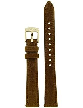 Fossil Uhrband Wechselarmband LB-ES3708 Original Ersatzband ES 3708 Uhrenarmband Leder 14 mm Braun