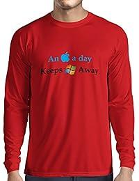 N4246L T-Shirt mit langen Ärmeln An Aplle a day ...