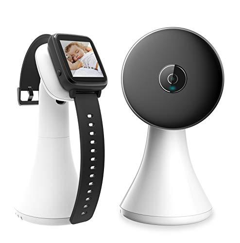 Babyphone mit Kamera Video Smart Baby Monitor 1,5 Zoll Handgelenk Bildschirm Nachtsichtkamera Temperaturüberwachung Schlaflieder, Nachtsicht, Intercom-Funktion VOX Mode Weiß/Schwarz 55 Video-kamera