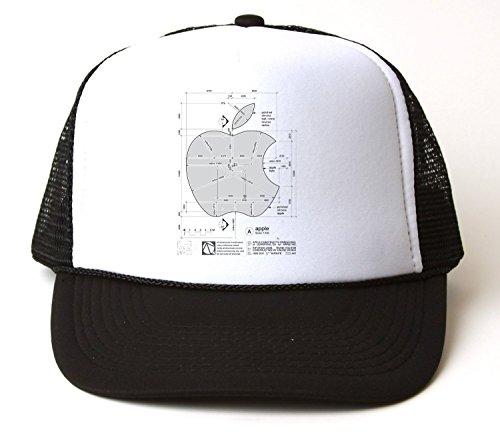 Steve Jobs Apple Logo T-Shirt Trucker Hat