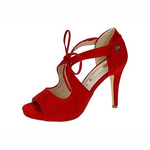 XTI 1553441 Tacones Finos Rojos Mujer Sandalias Tacón Rojo 41