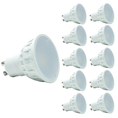 Uplight 10 Pack GU10 LED Bulbs Dimmable LED Bulbs GU10 5W AC240V 420lm 2700K Warm White 120 Degree Beam Angle 50Watt Replacement for Halogen Bulbs 3 years warranty