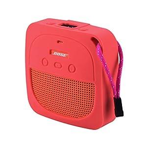 Dupeakya Lautsprecher Schutzhülle Tragbares Schlüsselband Helle Farbe Militärischer Anti Drop Geeignet für Bose Soundlink Micro Anti Fall
