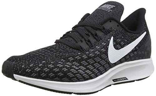 Nike Herren AIR Zoom Pegasus 35 Sneakers Mehrfarbig (Black/White/Gunsmoke/Oil Grey 001) 41 EU - Herren Laufband