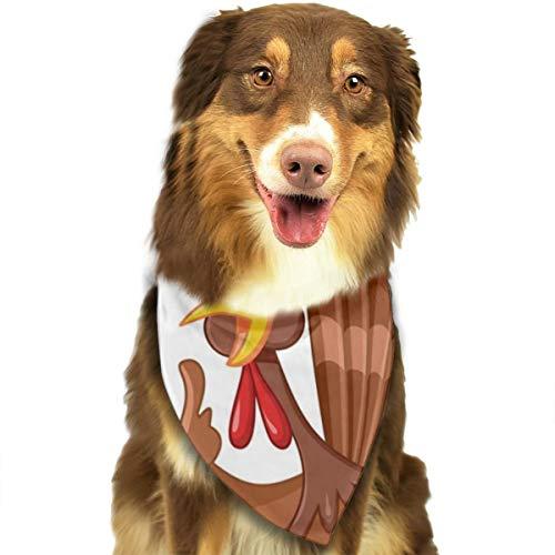 Hunde Thanksgiving Kostüm Katze - Huyotop Halstuch, Thanksgiving Truthahn-Motiv, für Hunde, Katzen, Welpen, Dreieck, Kopftuch Zubehör