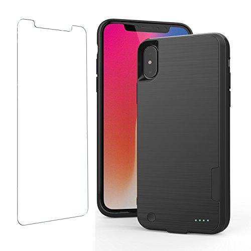 iPhone X Akku Fall mit Qi Wireless Charging, iPhone X Power Bank mit Wireless Charging 14,7cm 4000mAh Slim verlängerten Tragbarer Akku Backup Ladegerät Fall für iPhone 1014,7cm (Backup-akku-slim)