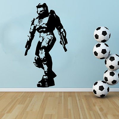 Free Squeegee! Wall Art Decal / Sticker / Transfer Gaming by Boultons Graphics (Master Cheif)
